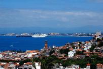 Estampa del paisaje de Puerto Vallarta