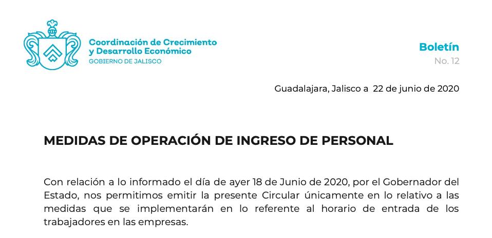 Empresarios covid19 Jalisco